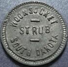 "WOONSOCKET, SOUTH DAKOTA Good For 5¢ ""STRUB"" Dry Goods CREAMERY & Merchant TOKEN"