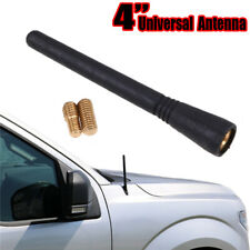 "4"" Universal Car Antenna Radio AM/FM Antenna Kit + Screw HOT Black Auto Roof"