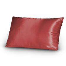 Lingerie Satin Pillowcases Set King Size Burgundy Red