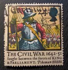 Great Britain stamps - The Civil War 1642-51 (Pikeman) 24p - FREE P & P