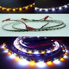White Amber Side Glow 60cm 60LEDs Car Turn Signal LED Strip Light Headlight Kit