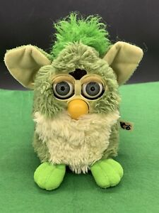 Vintage 1998 Green Furby I call Turtle, Works Well