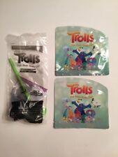 Sonic Wacky Pack Toy lot TROLLS - BREAKDANCERS GUY DIAMOND & STICKERS (2) NIP