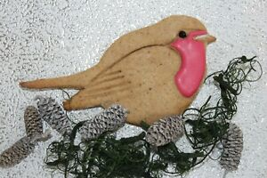 Robin Red Breast cookie biscuit icing embosser stamp cutter