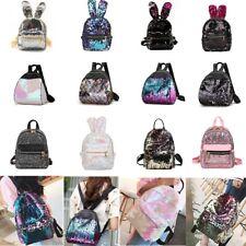 Women Chic Sequins Glitter Bling Backpack School Travel Rucksack Shoulder Bag