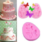 3D Butterfly Lace Fondant Cake Sugarcraft Mold Silicone Decorating Mould Tools