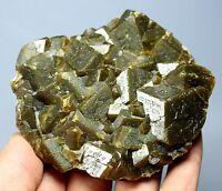 Natural Beauty Rare Cubic Andradite Garnet Crystal Mineral Specimens/China