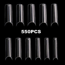 550pcs ABS For Practice Extra Long False Nail Tips C Curved DIY Manicure Fashion