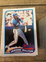 (250) Jerome Walton 1989 Rookie Card Topps & Fleer #123T U-80 NM-MT+