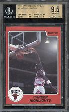 """1986 Star Michael Jordan """"Career Highlights"""" #7 BGS 9.5 GEM MINT. 10 Centering"""