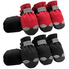 Waterproof Pet Dog Shoes Reflective Small Dog Winter Fleece Snow Boots Booties