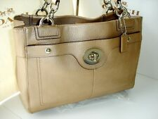 Coach Penelope Carryall Tote Handbag Purse 16531 Metallic Bronze
