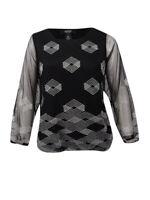 Alfani Women's Plus Size Embroidered Blouson Top (0X, Deep Black)