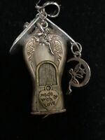 Handcrafted Silverware Jewelry Garden Fairy House Pendant