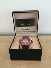 MULCO Unisex Titan MW2-9619-053 Analog Chronograph Watch Purple Dial & Band