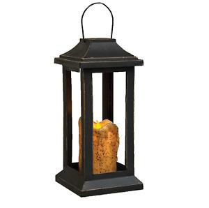 Burnt Ivory Pillar Lantern - 10 Inch