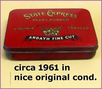 Vintage Tobacco Tin | State Express  | Circa 1961 | Very Original Condition ✔️✔️