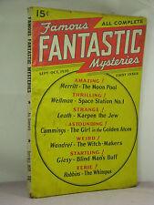 Famous Fantastic Mysteries Sept/Oct 1939 Issue 1,Merritt,Cummings,Wandrei,Wellm+