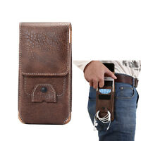 Leather Belt Clip Case Holster Pouch Card Slot Case Cover for iphone X 8 7 plus