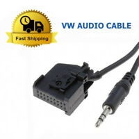 VW GOLF AUX IN INPUT ADAPTER INTERFACE CABLE LEAD CAR RADIO IPOD MP3 3.5MM JACK