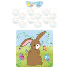 Easter Games Bunny - PIN THE TAIL ON - 12 PLAYERS PARTY FAVOURITE FUN!!!