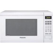 Panasonic White 1.2-cu ft 1,200-Watt Left Door Swing Countertop Microwave Oven