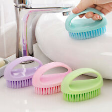 Plastic Glove Handle Scrub Cleaning Brush For Shoes Clothes House Tool
