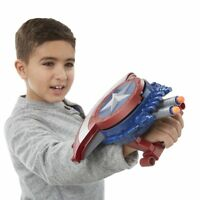 Captain America Marvel Civil War Blaster Reveal Shield Launch included NERF Dart