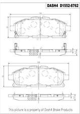 Disc Brake Pad Set-Premium Ceramic Pads Front CFD1552 fits 2011 Nissan Quest
