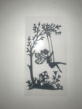 Fairy Sitting On A Swing Wine Bottle Vinyl Decal