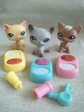 3lot Littlest Pet Shop Short Hair grey Cat 391 Yellow 339 Brown 1170 LPS Toys