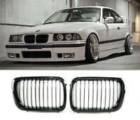 BMW E36 97- facelift gloss black performance front kidney grilles grille grills.