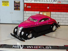 1937 FORD STREET ROD HOT PINK BLACK 1/58 SCALE DIORAMA DIECAST COLLECTIBLE PC