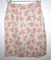 Charter Club - 6 (S) - NWOT - Multi-Color Floral Print Silk & Linen Wrap Skirt