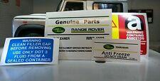 LAND Rover Defender 90 110 V8 19 undecies Decalcomania Adesivo etichetta SOTTO COFANO MOTORE SET
