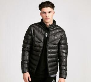 Mens Gym King Reign Quilted Jacket Black (PA1) RRP £64.99