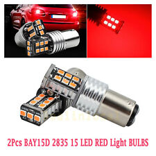 2 X BAY15D 1157 P21/5W ROSSO 15 2835 LED FRENO STOP TAIL CANBUS LUCE LAMPADINA