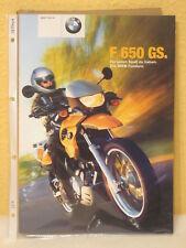 Prospekt BMW F 650 GS 2001