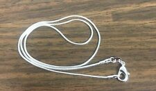 """Sterling Silver Snake Chain 18"""" US SELLER Fast Ship 1mm Owl Style Necklace"""