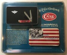 Nib W.R Case & Sons Cutlery Co. Hand Crafted Red Bone Pocket Knife 6207 Ss