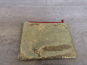 Ladies/Girl's Gold Sparkle Make Up Bag - Yves Rocher Designer - brand new