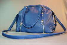 Fashion Purse Blue Vegan Maker Unknown Used 3 times No Tags Handles & Strap