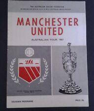 1967  SYDNEY XI vs MANCHESTER UNITED SOUVENIR PROGRAMME  JUNE 7