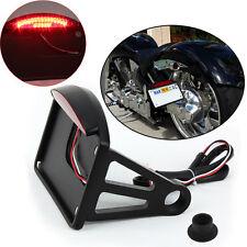 Pour Harley Customs Moto Cadre de plaque d'immatriculation de LED feux arrière
