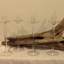 Beautiful Glass candle holders x 4 NIB!