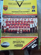 5.4.85 Hull KR v Featherstone Rovers programme
