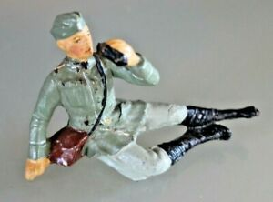 Soldier Old Elastolin Composition to the / Of Rest Seated Drinking 1930/40