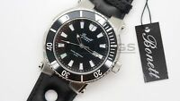 Bonett 1247S Black Mens Danish Watch Chronograph Stainless Steel 10ATM 100metres