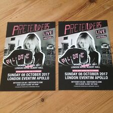 PRETENDERS - 2 x postcard flyers for London 2017 gigs     Chrissie Hynde
