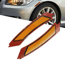 Amber Front Bumper Reflector Side Marker Lights For 2009-2011 BMW E90 E91 4D LCI